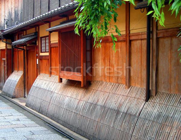 Casa detalle imagen madera calle Foto stock © RazvanPhotography
