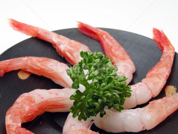 Crevettes sashimi plaque culture Photo stock © RazvanPhotography