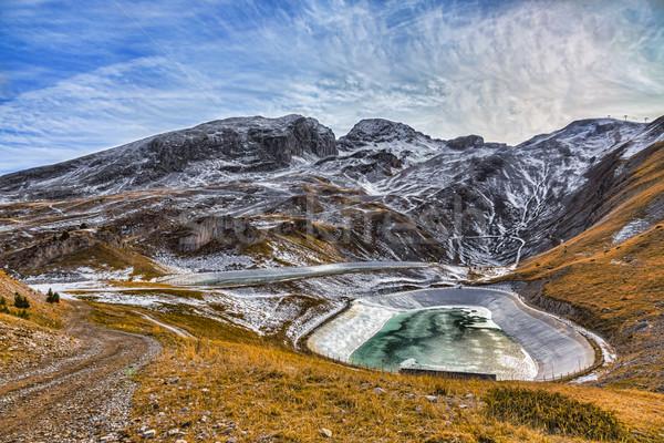 Artificial montanhas inverno paisagem dois céu Foto stock © RazvanPhotography