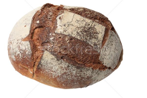 Francia kenyér hagyományos izolált fehér kenyér étel Stock fotó © RazvanPhotography