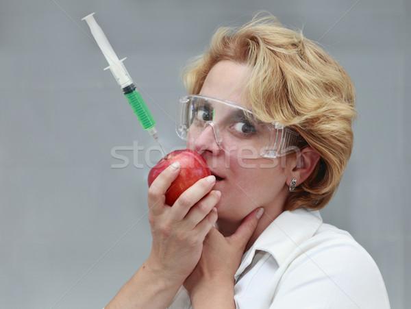 Venenoso alimentos imagen femenino investigador comer Foto stock © RazvanPhotography