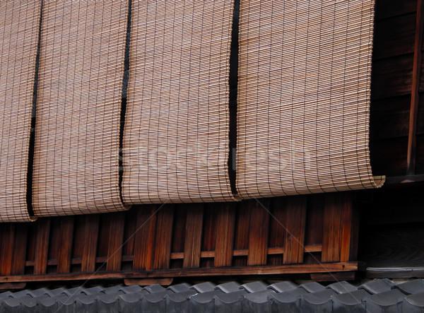 Bamboe detail mijlpaal thee huizen textuur Stockfoto © RazvanPhotography
