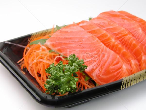 Salmone sashimi primo piano estrema piatto Foto d'archivio © RazvanPhotography