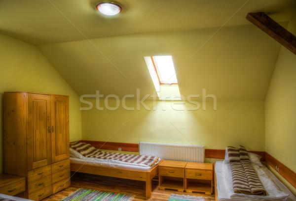 Herberg kamer schone reizen ontspannen bed Stockfoto © RazvanPhotography