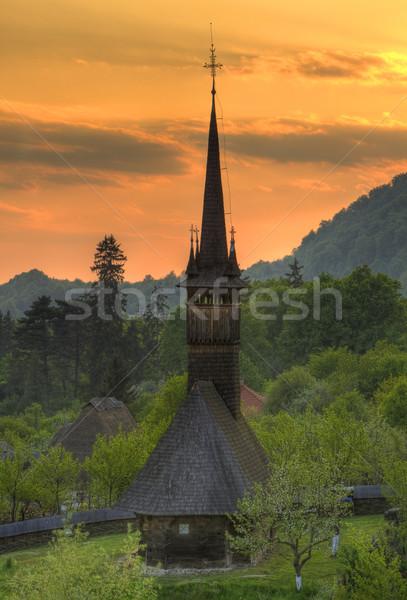 Wooden church from Maramures, Romania Stock photo © RazvanPhotography