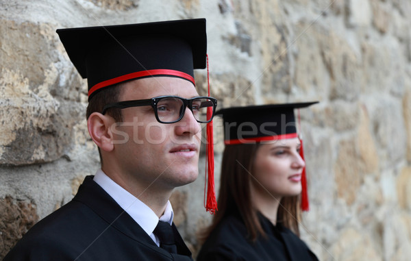 Young Couple in the Graduation Day Stock photo © RazvanPhotography