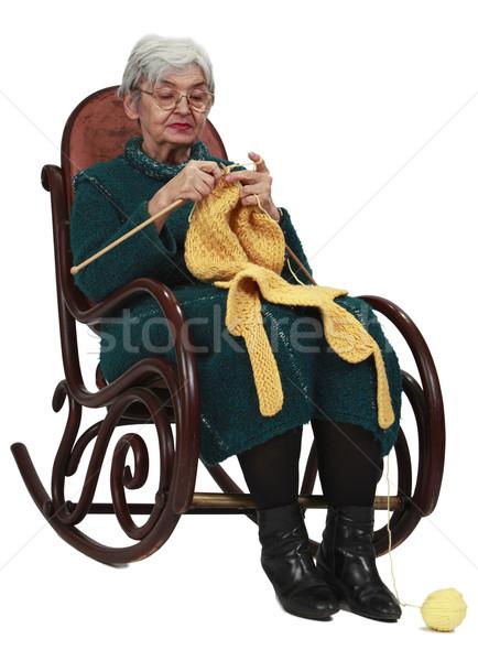 Old woman knitting Stock photo © RazvanPhotography