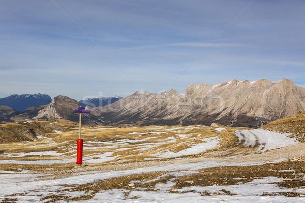 Ski Domain Wthout Snow in Winter Stock photo © RazvanPhotography