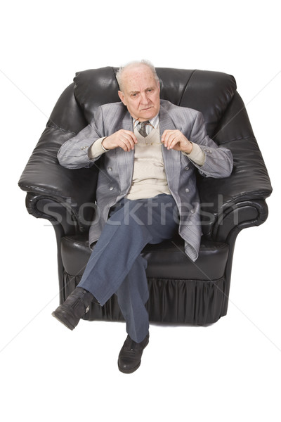 Stock photo: Senior man thinking