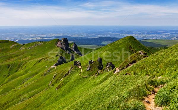 Footpath in Puy de Sancy Mountain Stock photo © RazvanPhotography