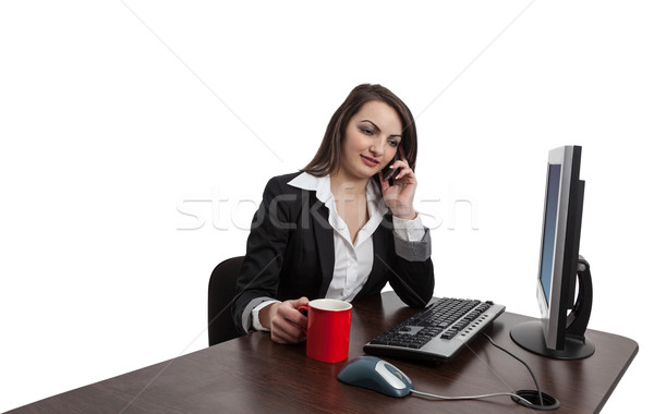 Businesswoman on the Phone Stock photo © RazvanPhotography