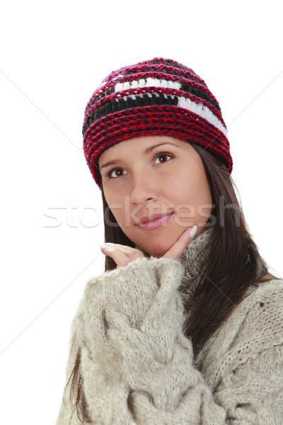 Winter portrait of a woman Stock photo © RazvanPhotography