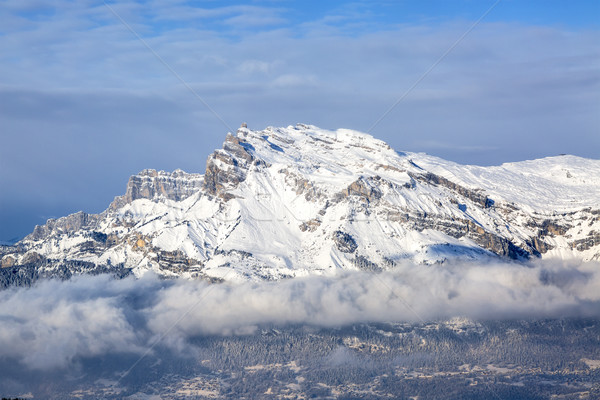 Mountain Peak Over the Clouds Stock photo © RazvanPhotography