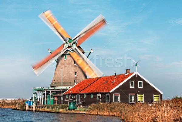 Dutch windmill Stock photo © RazvanPhotography