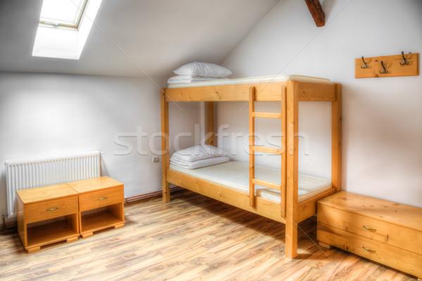 Herberg kamer schone houten huis reizen Stockfoto © RazvanPhotography
