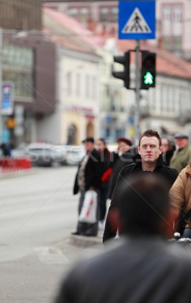 Man in the crowd Stock photo © RazvanPhotography
