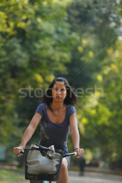 Woman riding a bicycle Stock photo © RazvanPhotography