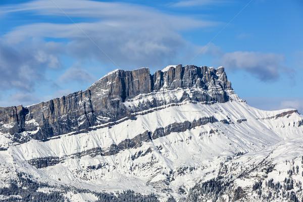 французский Альпы зима мнение пластина Сток-фото © RazvanPhotography