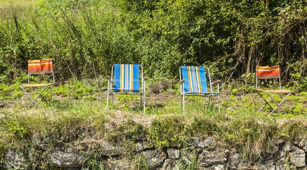 Cadeiras tour França colorido vazio Foto stock © RazvanPhotography