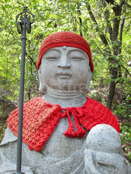 Budist heykel detay seyahat taş park Stok fotoğraf © RazvanPhotography