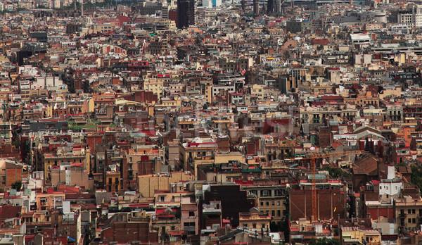 Abstrato metrópole imagem lotado edifícios Foto stock © RazvanPhotography