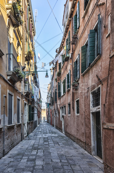 Narrow Venetian Street  Stock photo © RazvanPhotography