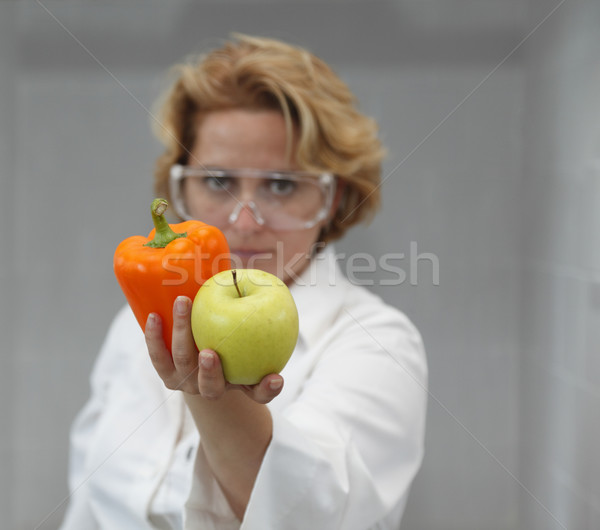 Female Scientist Offering Natural Food Stock photo © RazvanPhotography