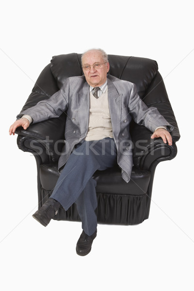 Senior in an armchair Stock photo © RazvanPhotography