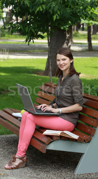 Young Woman with a Laptop in a Park Stock photo © RazvanPhotography