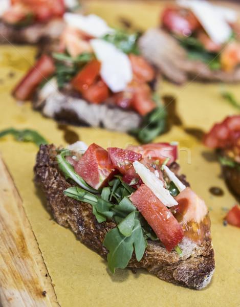 Italiana bruschetta fresche olio d'oliva pomodoro vegetali Foto d'archivio © RazvanPhotography