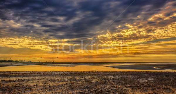 Sunset at Couesnon River Estuary Stock photo © RazvanPhotography