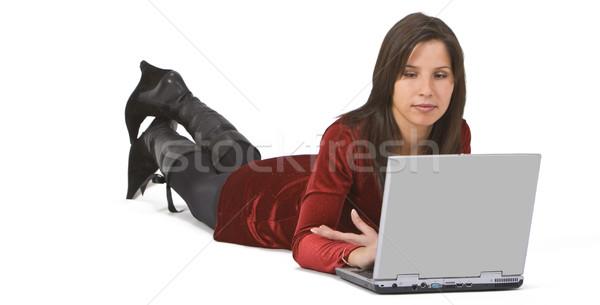 Woman working on a laptop Stock photo © RazvanPhotography