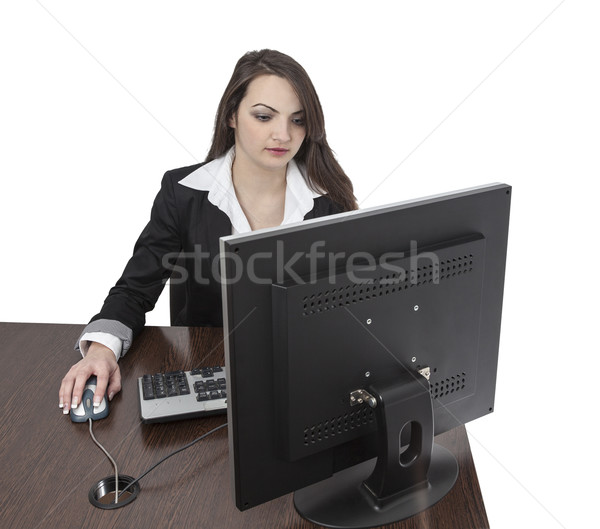 Young woman working on a computer Stock photo © RazvanPhotography