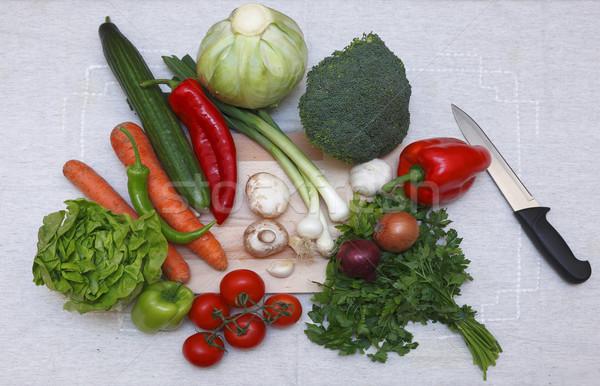 Salad ingredients Stock photo © RazvanPhotography