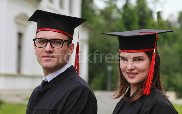 Portrait of a Couple in the Graduation Day Stock photo © RazvanPhotography