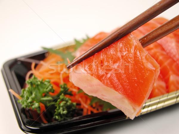 сашими палочки для еды два кусок Сток-фото © RazvanPhotography