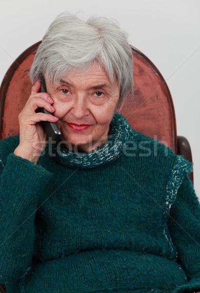 Old woman on the phone Stock photo © RazvanPhotography