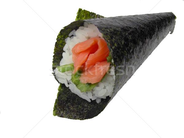 Hand roll salmon sushi Stock photo © RazvanPhotography