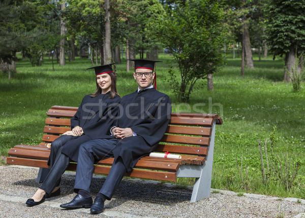 Couple in the Graduation Day Stock photo © RazvanPhotography