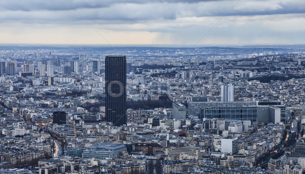 Paris Tour Dämmerung Bild Winter Abend Stock foto © RazvanPhotography