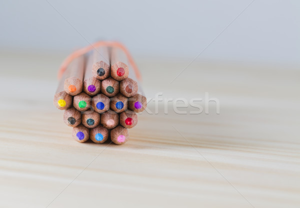 Bundle of Pencils on a Wooden Table Stock photo © RazvanPhotography