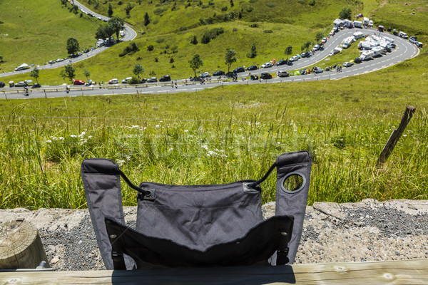 The Folding Chair of a Spectator - Tour de France 2014 Stock photo © RazvanPhotography