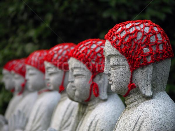 Budista japonês viajar vermelho deus Foto stock © RazvanPhotography