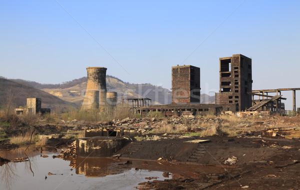 Industrial ruinas lugar uno edificios Foto stock © RazvanPhotography