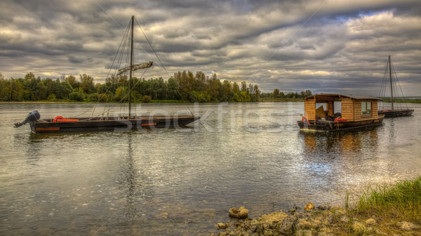 Wooden Boats on Loire Valley Stock photo © RazvanPhotography