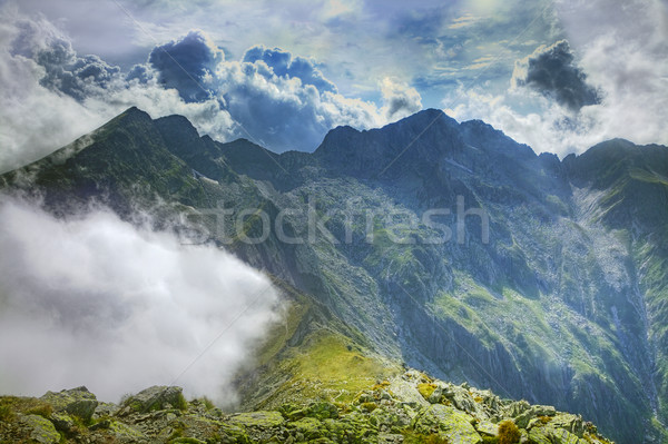 The place where the clouds turn back Stock photo © RazvanPhotography