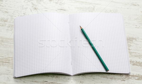 Notebook pleinen Open grafiet potlood Stockfoto © RazvanPhotography