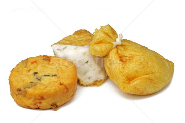 Sült tofu különböző izolált fehér tél Stock fotó © RazvanPhotography