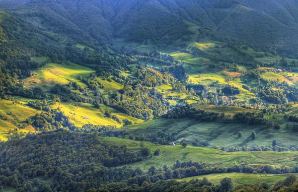 Volkanik vadi güzel merkezi merkez Fransa Stok fotoğraf © RazvanPhotography