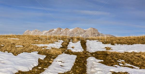 Dağ kar kış manzara alpler geç Stok fotoğraf © RazvanPhotography
